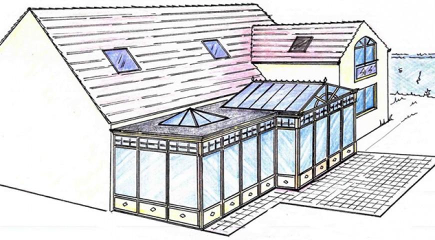 agrandissements et extension permis de construire plan de maison. Black Bedroom Furniture Sets. Home Design Ideas