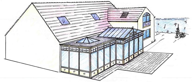 Agrandissements et extension permis de construire plan for Agrandissement maison permis de construire